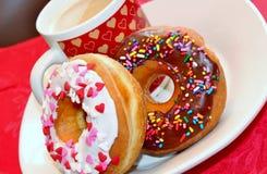 Donuts и кофе Стоковая Фотография