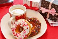 Donuts и кофе Стоковая Фотография RF