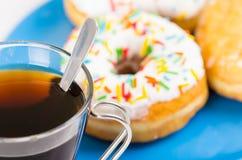 Donuts и кофе Стоковое Изображение