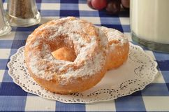 Donuts и молоко торта Стоковые Фото