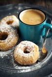Donuts и чашка кофе Стоковая Фотография RF