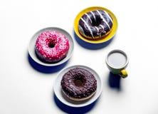 Donuts и чашка кофе Стоковое Изображение RF