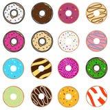 Donuts комплекта иллюстрация штока