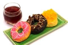 Donuts много вкусов очень очень вкусных Стоковая Фотография