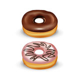 2 donuts на белизне Стоковое Изображение RF