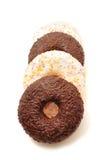 Donuts на белой предпосылке Стоковые Фотографии RF