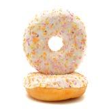Donuts на белой предпосылке Стоковая Фотография RF