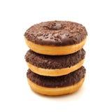 Donuts на белой предпосылке Стоковые Изображения