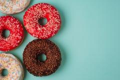 Donuts на голубой предпосылке Стоковое фото RF