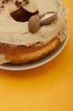 Donuts на желтой предпосылке Стоковые Фото