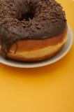 Donuts на желтой предпосылке Стоковое фото RF