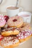 Donuts на плите Стоковое фото RF