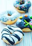 Donuts на плите Стоковая Фотография RF