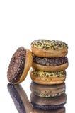 Donuts на таблице отражения Стоковые Фотографии RF
