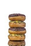 Donuts на таблице отражения Стоковое фото RF