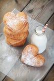 Donuts сердца форменные Стоковые Изображения RF