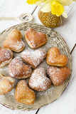 Donuts сердца форменные Стоковые Фотографии RF