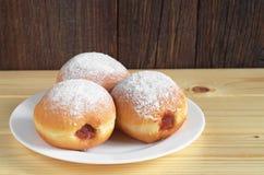 Donuts с вареньем Стоковое Изображение
