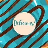 Donuts с поливой иллюстрация штока