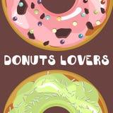 Donuts с поливой бесплатная иллюстрация