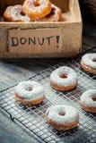 Donuts с сахаром порошка Стоковая Фотография RF