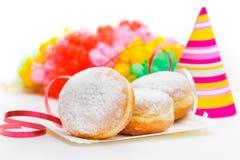 Donuts с украшением масленицы Стоковое Изображение