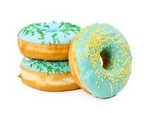 3 donuts с украшенный брызгают Стоковые Фотографии RF