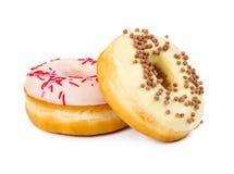2 donuts с украшенный брызгают Стоковая Фотография