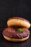 Donuts с шоколадом Стоковые Фото