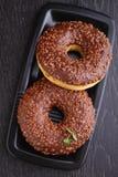 Donuts с шоколадом Стоковая Фотография RF
