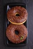 Donuts с шоколадом Стоковое Изображение