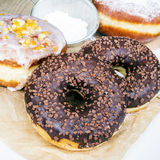 Donuts с шоколадом Стоковое фото RF