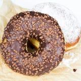Donuts с шоколадом Стоковая Фотография