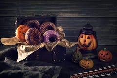 Donuts хеллоуина Стоковые Фотографии RF
