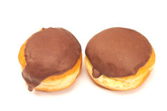 Donuts шоколада изолированные на белизне Стоковые Изображения