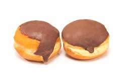 Donuts шоколада изолированные на белизне Стоковое Фото