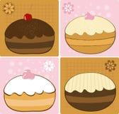 Donuts. Fancy Hanukkah Donuts Icons Illustration