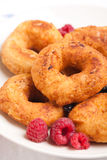 Donuts. Unhealthy breakfast with fried donuts Royalty Free Stock Photo
