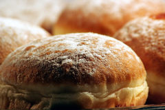 Donuts. Croatian donuts on plate close up Royalty Free Stock Images
