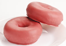 Donuts. On white background stock images