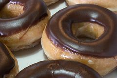 Donuts. Chocolate donuts stock images