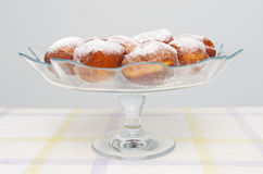 Donuts. Tasty fresh donuts with sugar powder Royalty Free Stock Photography