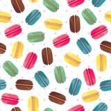 Άνευ ραφής πρότυπο με τα νόστιμα donuts Στοκ Εικόνα