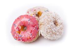 donuts τρία Στοκ φωτογραφία με δικαίωμα ελεύθερης χρήσης