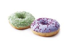 Donuts на белой предпосылке Стоковое Изображение