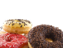 The donuts. Several donuts on a white background Royalty Free Stock Photo