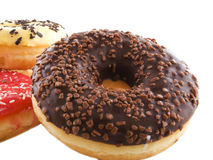The donuts. Several donuts on a white background Stock Image