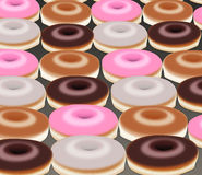 Donuts background. Dessert background, seamless Royalty Free Stock Photography