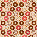 Donuts background. Vector seamless pattern. Royalty Free Stock Image