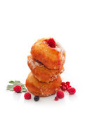 Donuts with berries Royalty Free Stock Photos